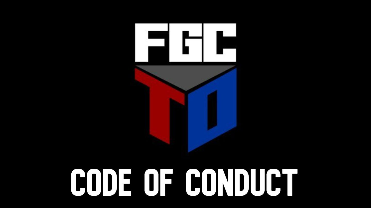 the logo for the FGC code of conduct